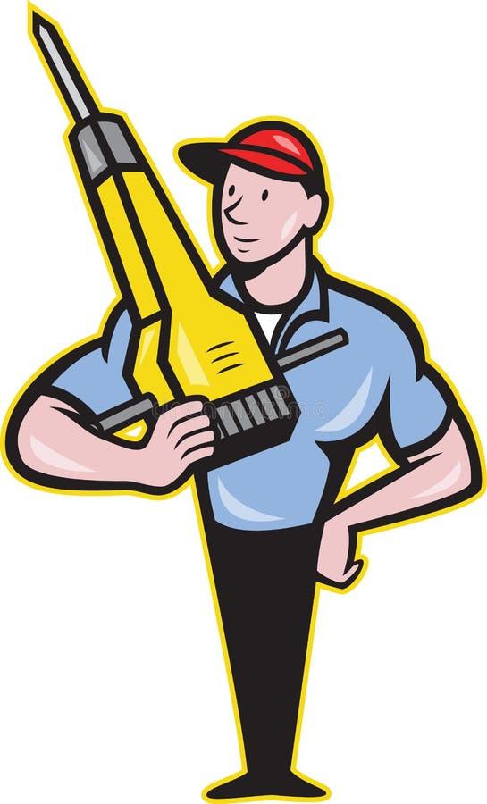 Download Construction Worker Jackhammer Pneumatic Drill Stock Vector - Image: 29478599