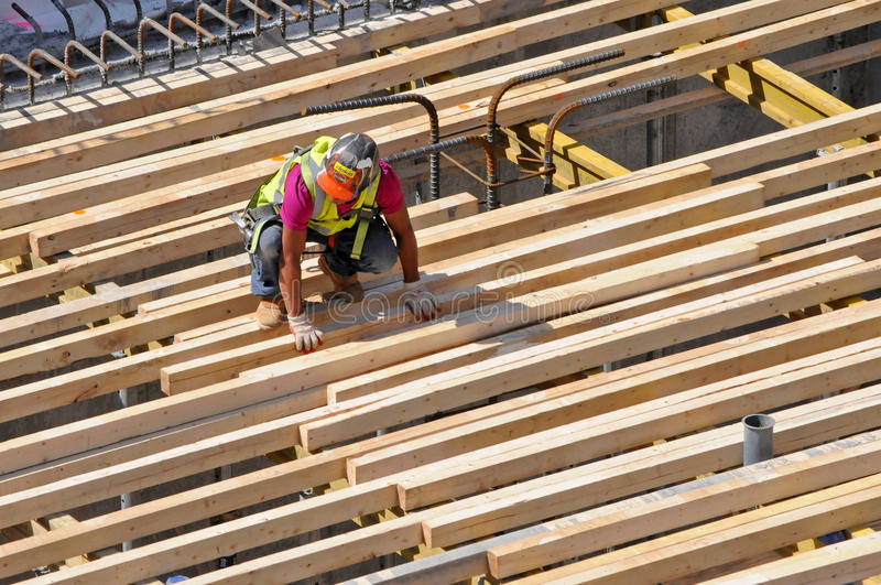 Construction worker, New York City royalty free stock photography