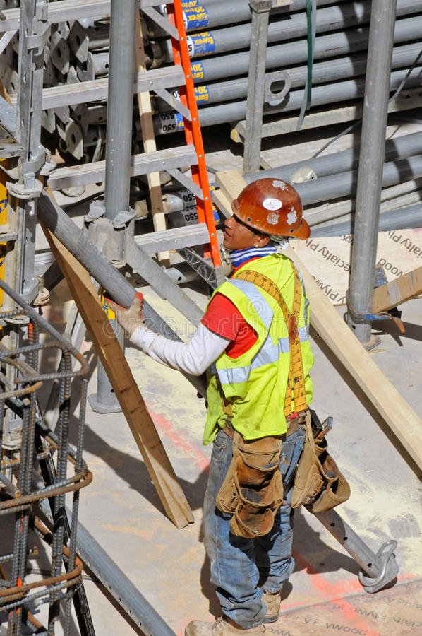Construction worker, New York City royalty free stock photo