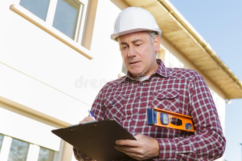 Construction worker planning contractor developer concept royalty free stock photography