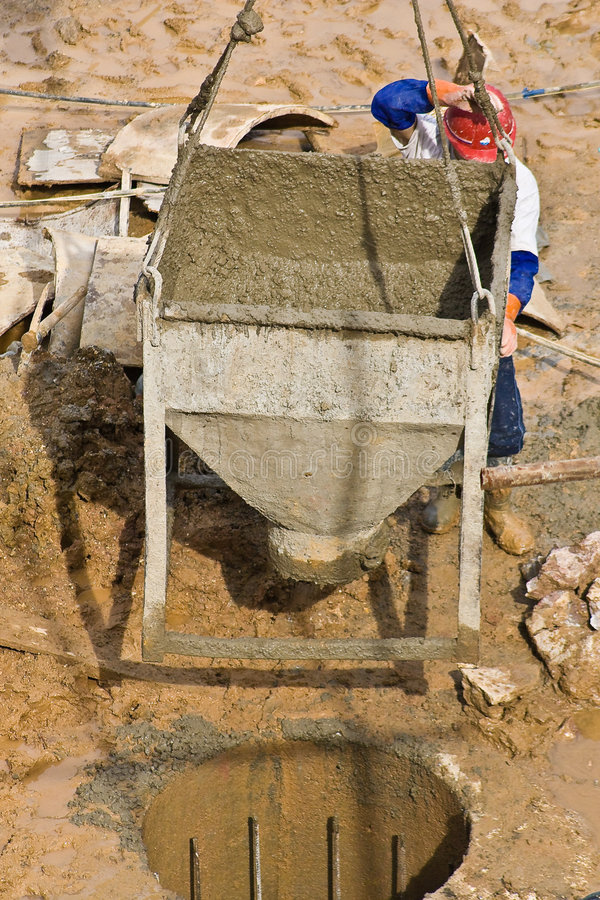Free Construction Worker Pouring Concrete (2) Royalty Free Stock Photography - 7303277