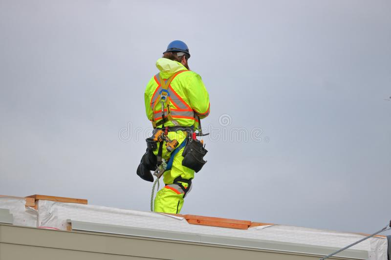 Construction Worker Safety Apparel and Equipment stock photo