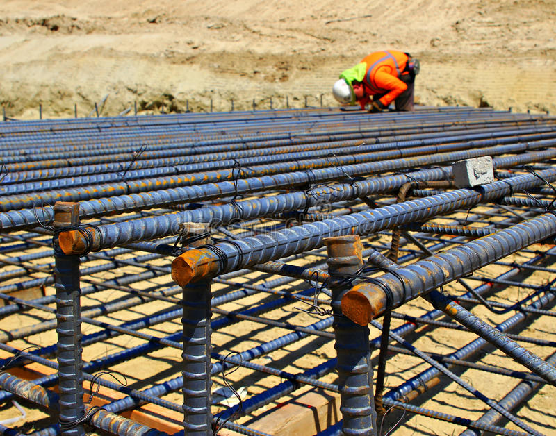 download construction worker setting rebar stock photo image of adult reinforced 66372982