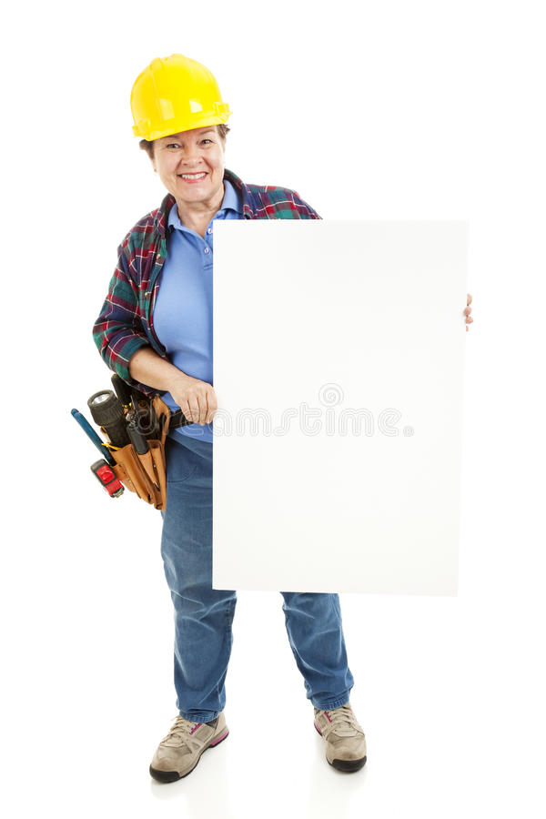 Construction Worker Sign royalty free stock image