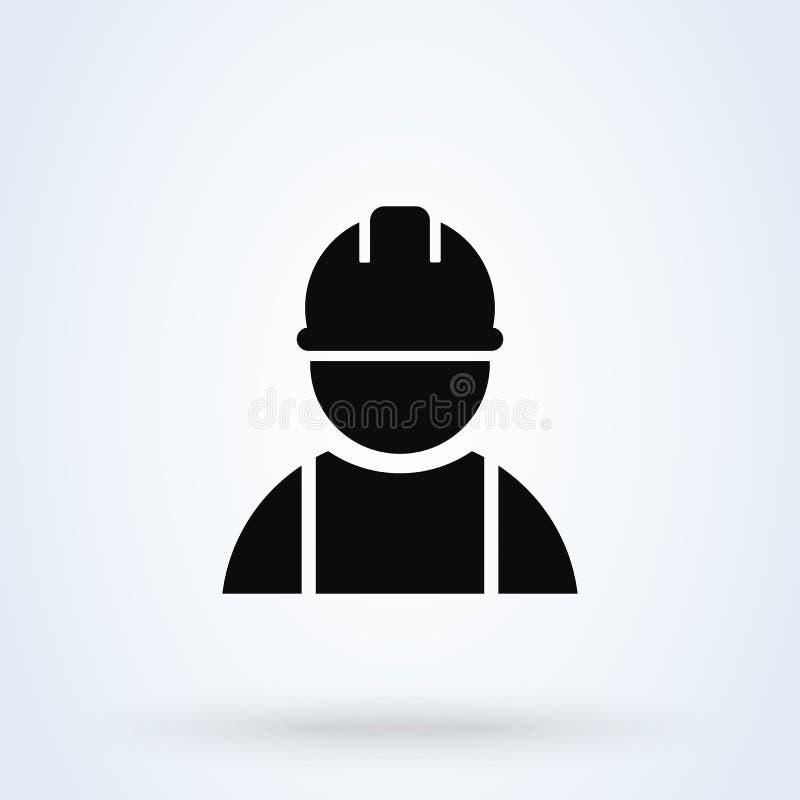 Construction worker. Simple vector modern icon design illustration. Eps 10 stock illustration