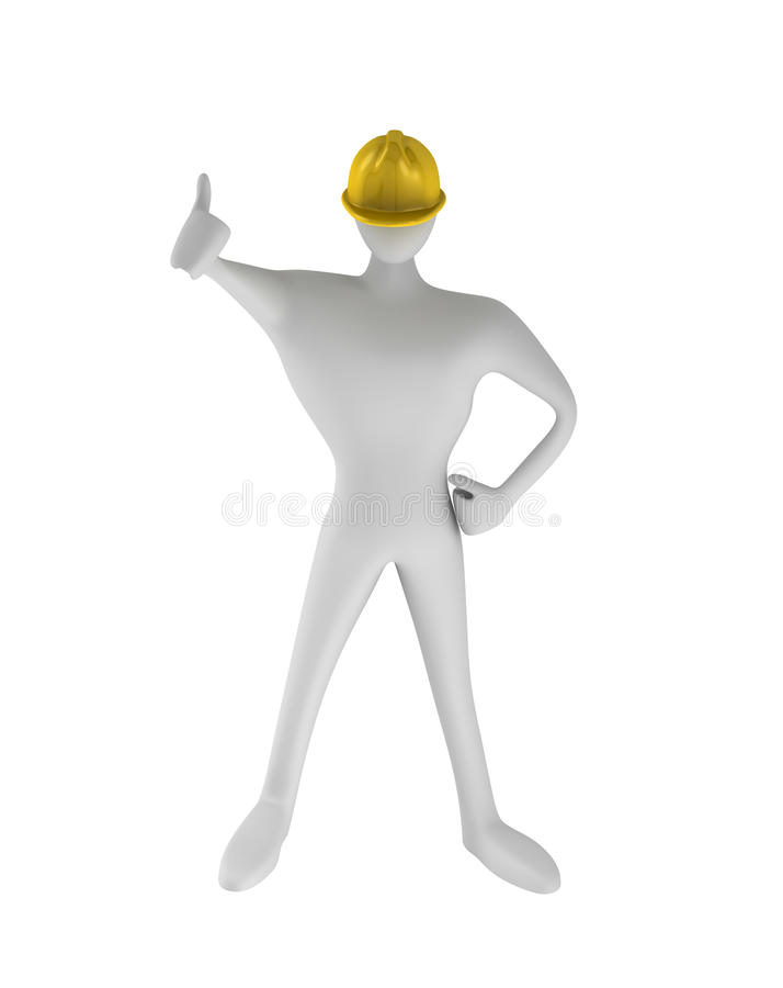 Download Construction Worker With Thumbs Up Stock Illustration - Illustration: 20595021
