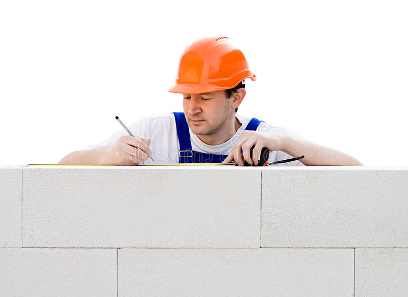 Construction worker at work royalty free stock image
