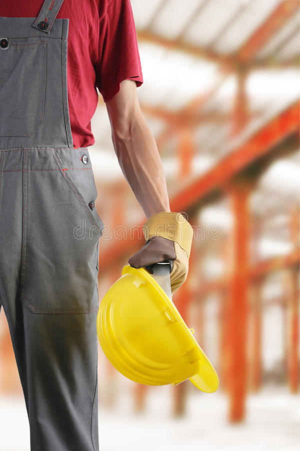 Construction worker at work royalty free stock photo