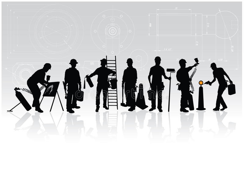 Download Construction workers stock vector. Image of business - 11187366