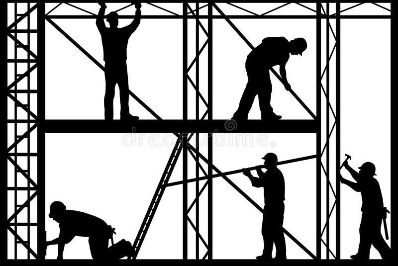 Download Construction workers stock vector. Illustration of framing - 18096793