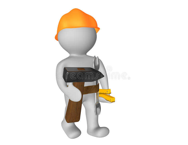 Download Construction workers stock illustration. Image of signs - 20039225