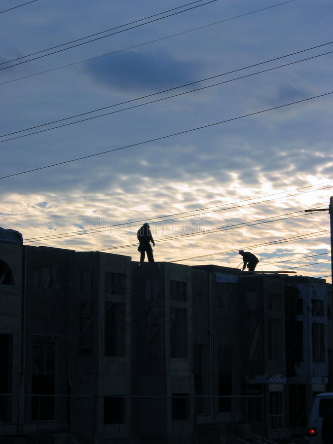 Construction workers 3 royalty free stock photo
