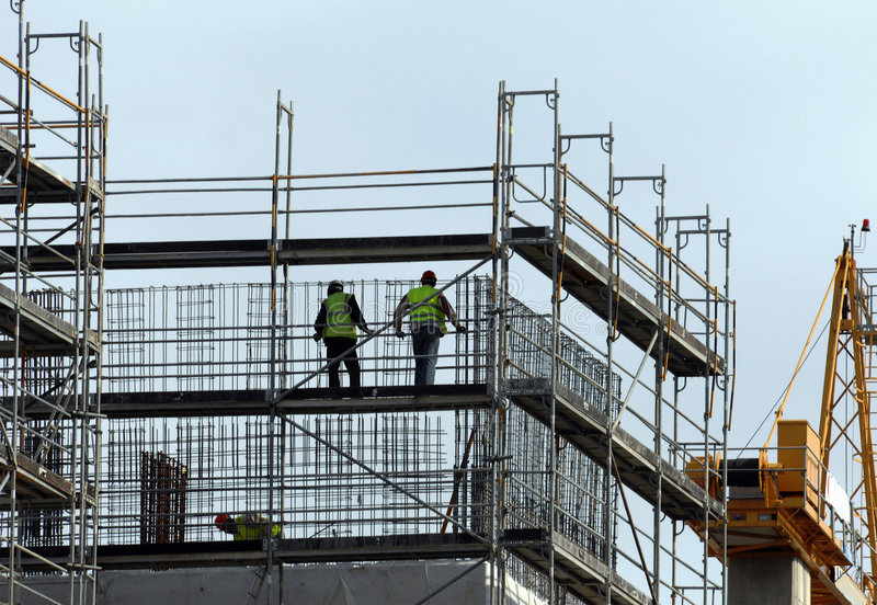 Construction workers royalty free stock photos