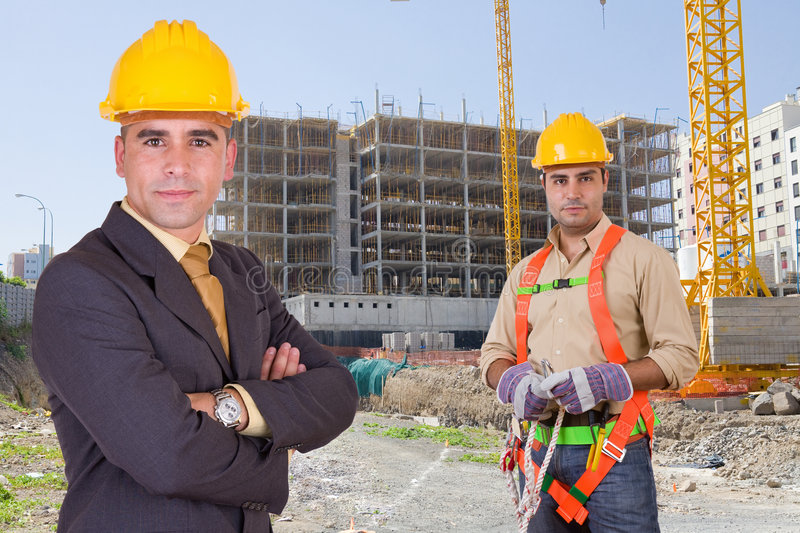 Construction workers stock photos