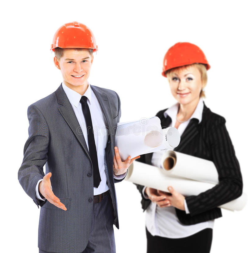 Construction workers group royalty free stock photo