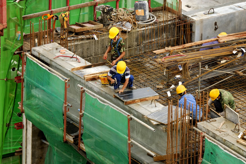 Download Construction Workers At High-r Stock Image - Image: 1865491