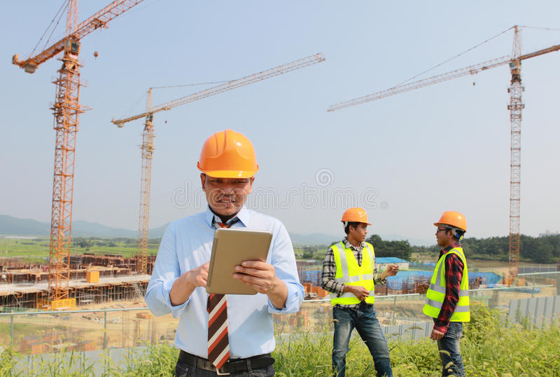 Download Construction workers stock image. Image of control, foreman - 33684647