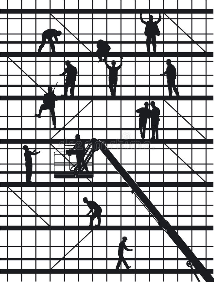 Download Construction Workers Silhouettes Stock Photos - Image: 21161993