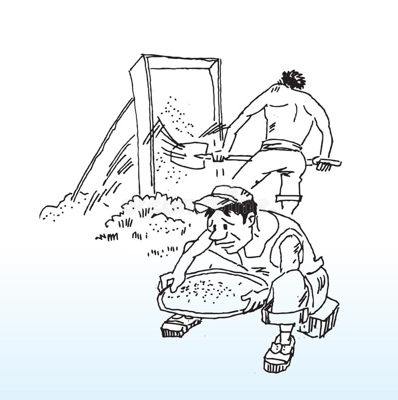 Construction workers on site vector illustration