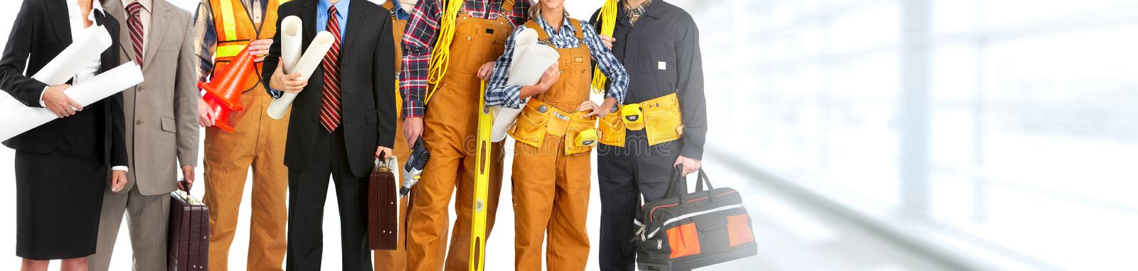 Construction workers team stock photos