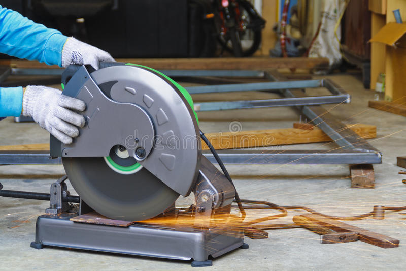 Download Construction Working With Cutting Grinder Royalty Free Stock Image - Image: 25711386