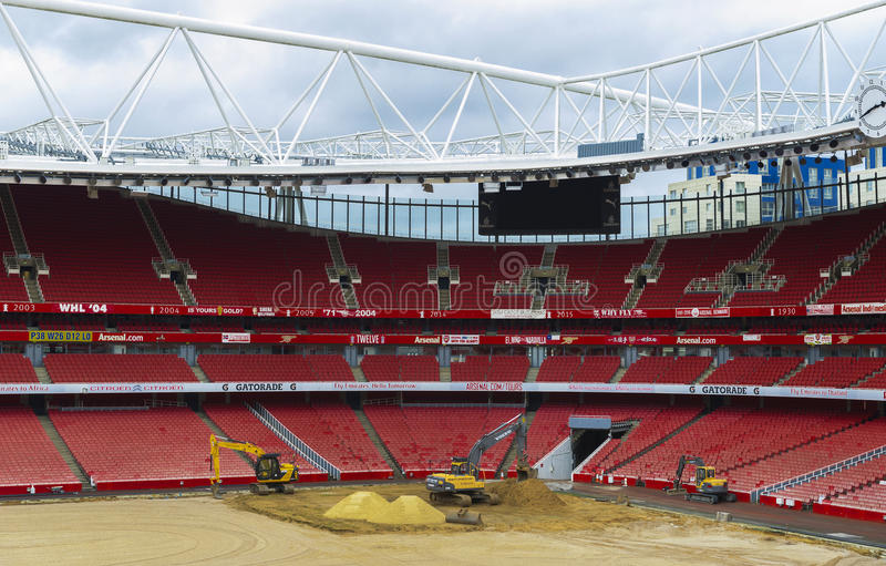 Construction works at the Emirates Arena stock photography