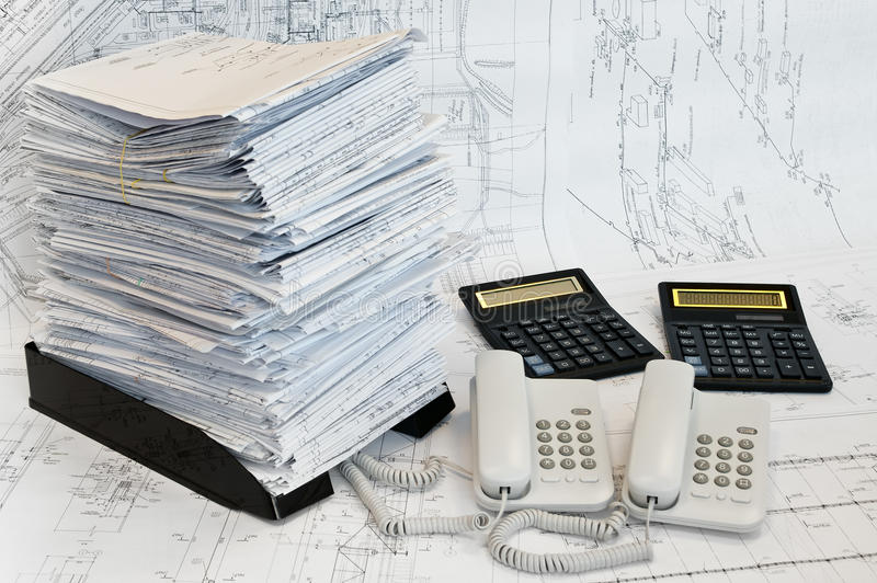 Constructional and engineering`s objects stock image