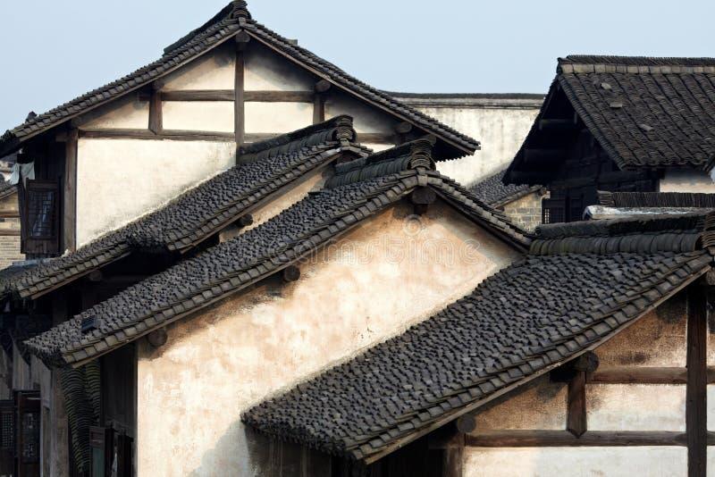Constructions à la ville de Wuzhen photo stock