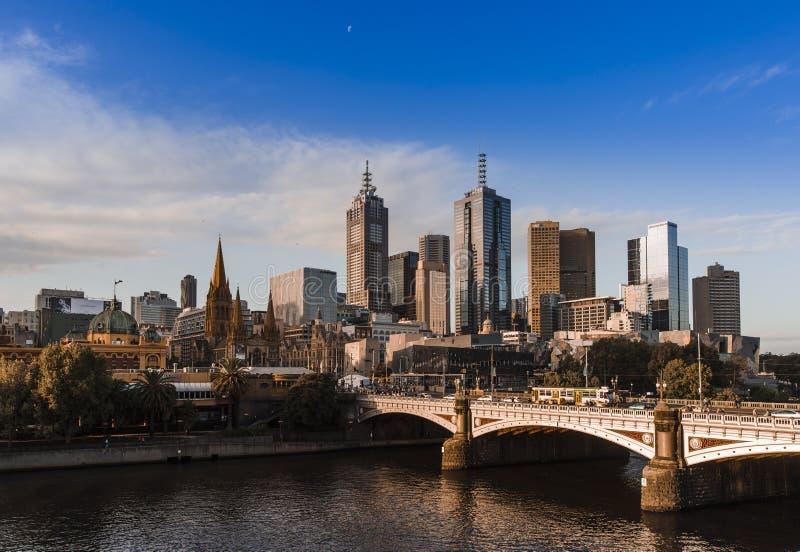 Constructions à Melbourne image stock