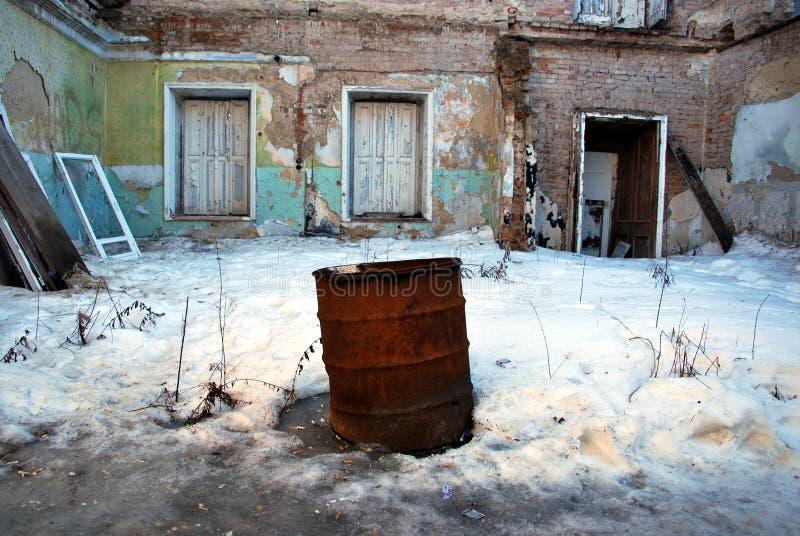 Constructions abandonnées photographie stock