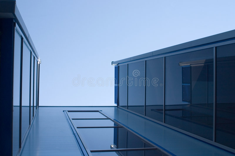 Constructions bleues photo stock