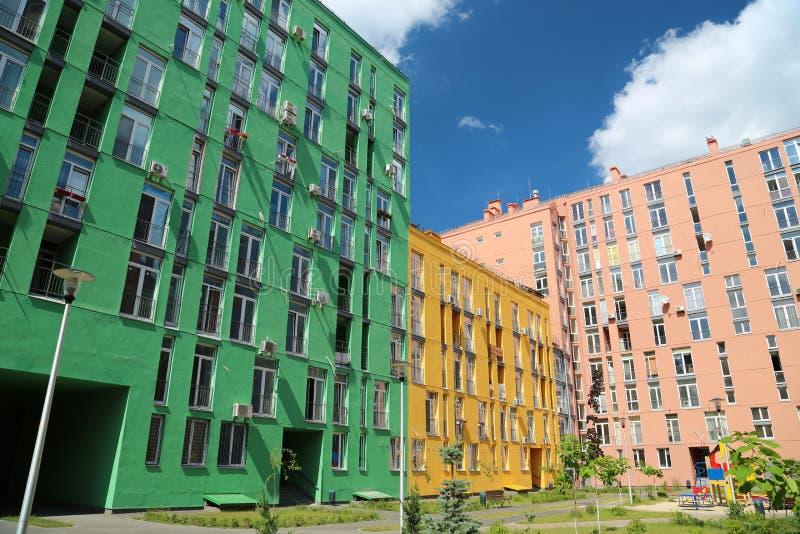 Constructions colorées image libre de droits
