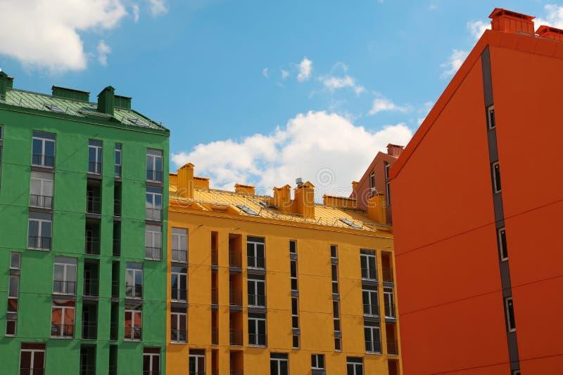 Constructions colorées images stock