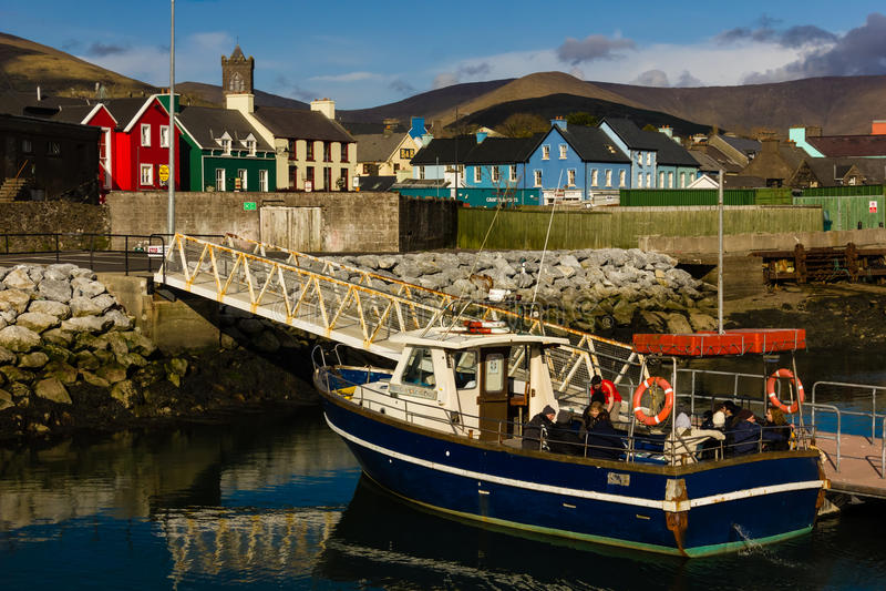 Constructions colorées vallon l'irlande photographie stock libre de droits