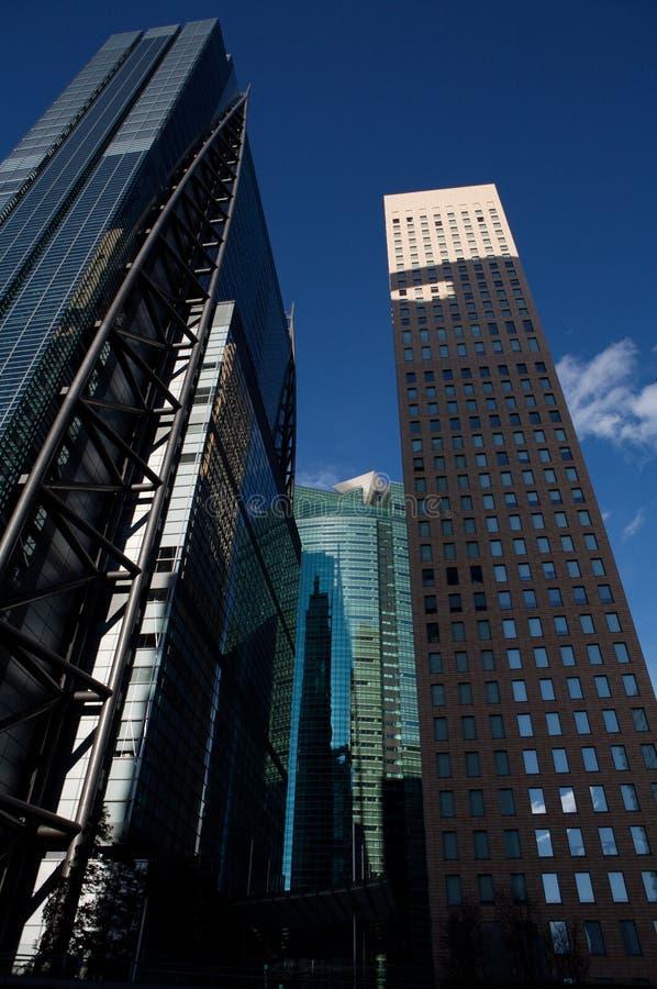 Constructions d'affaires de ville de Tokyo, point de vue photos libres de droits