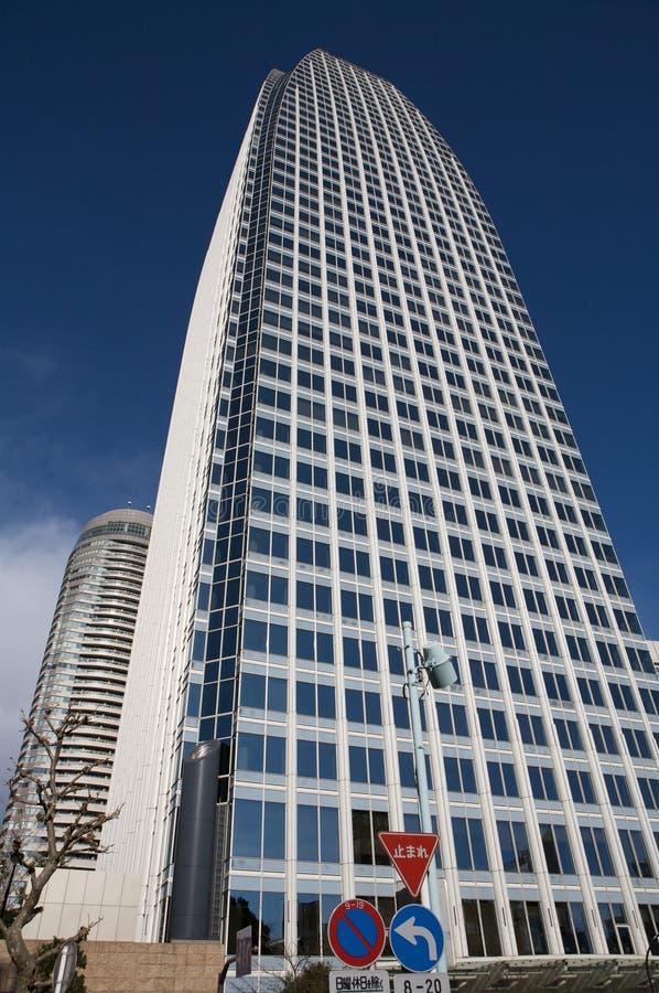 Constructions d'affaires de ville de Tokyo, point de vue images stock