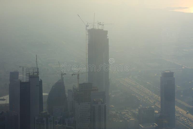 Constructions d'Unfinised à Dubaï image libre de droits
