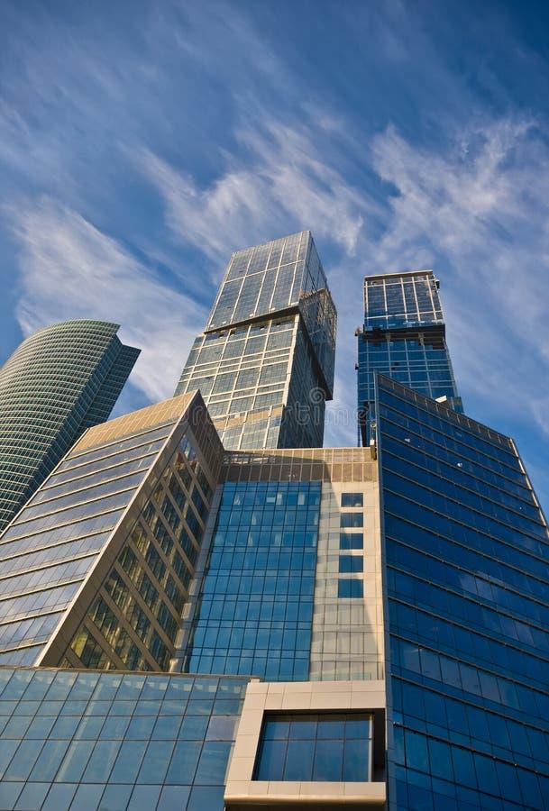 Constructions de centre d'affaires photo libre de droits
