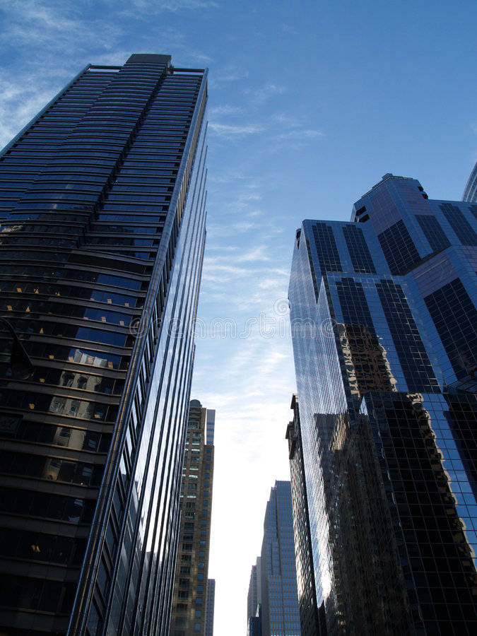 Constructions de Chicago image libre de droits