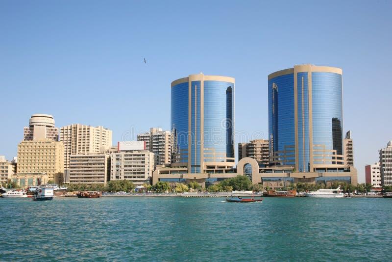 Constructions de crique Dubaï photos stock