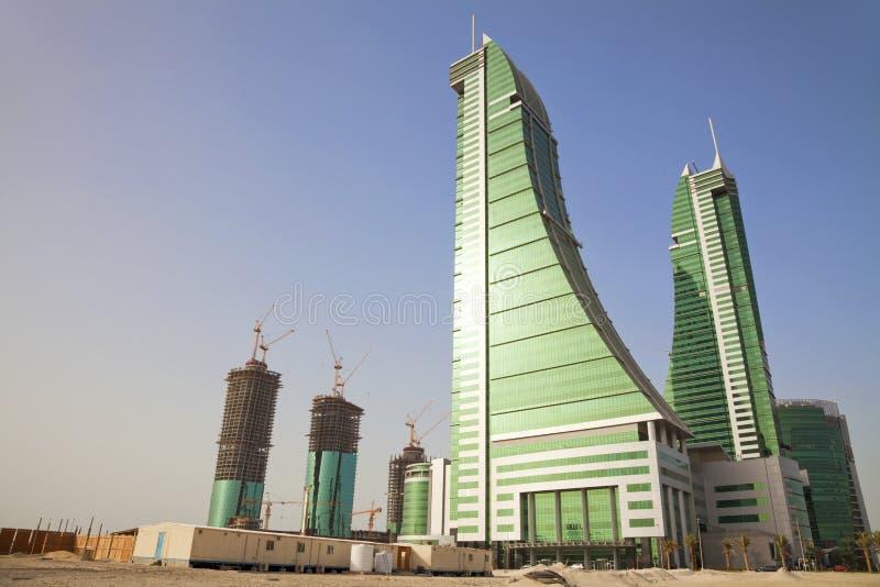 Constructions de désert, Manama, Bahrain photos libres de droits