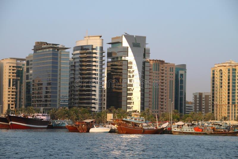 Constructions de Dubai Creek images stock