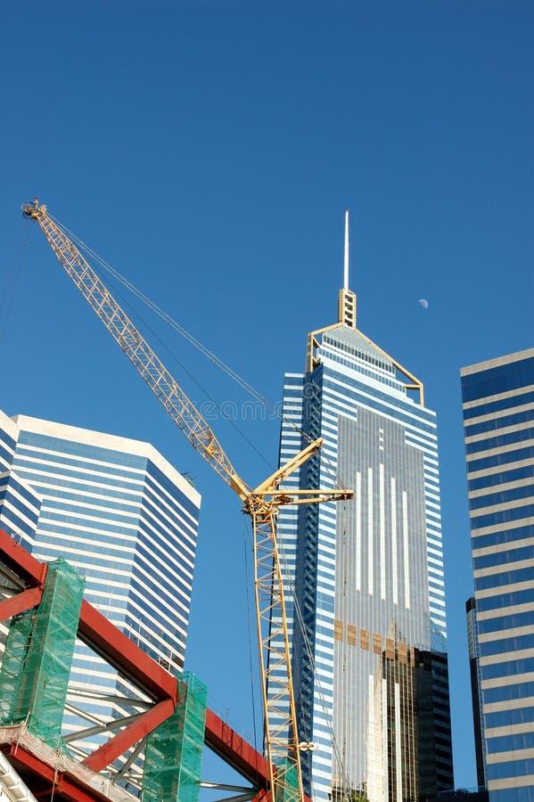 Constructions de grue et d'affaires photos stock