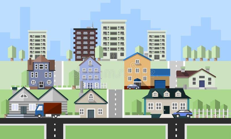 Constructions de logements résidentielles illustration libre de droits