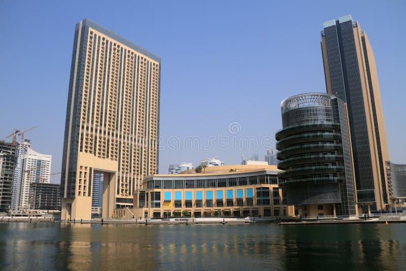 Constructions de marina de Dubaï photographie stock
