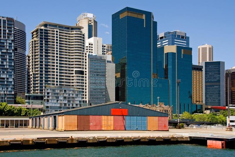 Constructions de quai et de ville image libre de droits