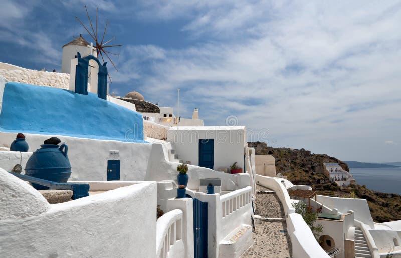 Constructions de Santorini image libre de droits