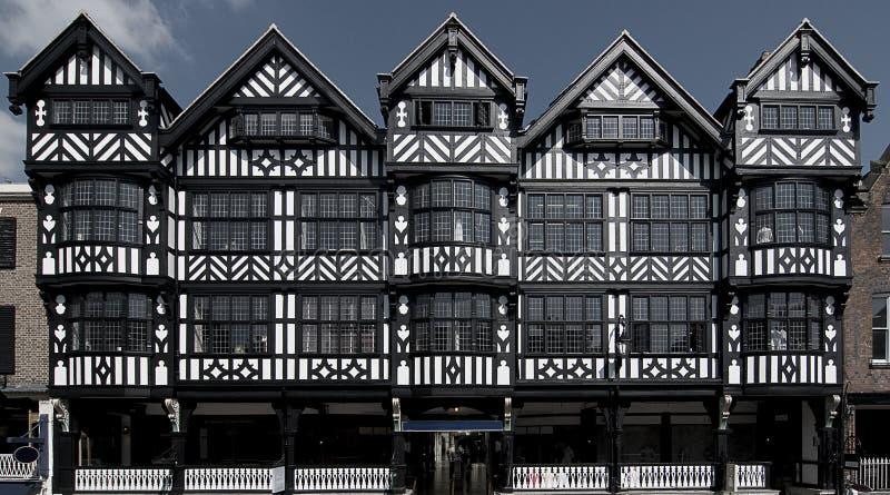 Constructions de Tudor photographie stock