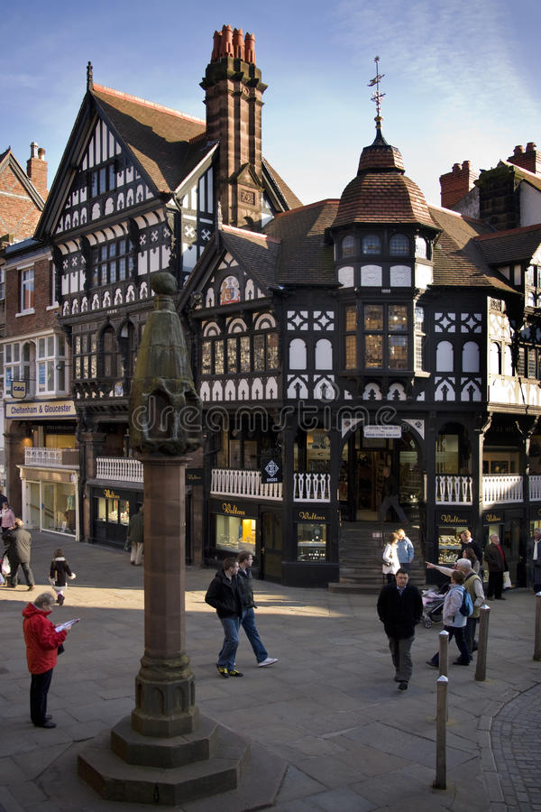 Constructions de Tudor - Chester - Angleterre photographie stock