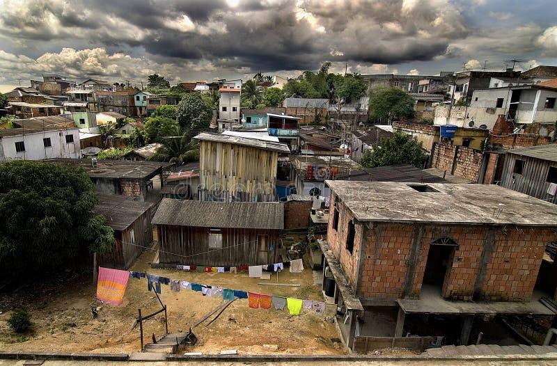 Constructions de voisinage en Amazone photo libre de droits